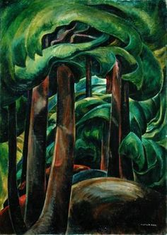 The movement and depth in her work is amazing! Emily Carr / Western Forest / c.1931 / oil on canvas