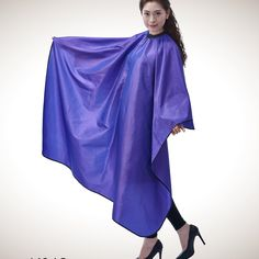 Salon Professional Hair Styling Cape, Colorfulife Large Chameleon Hair Cutting Coloring Styling Waterproof Cape Hairdresser Wai Cloth Barber Gown Home Camps and Hairdressing Wrap Capes K012 (Purple) -- See this great product.