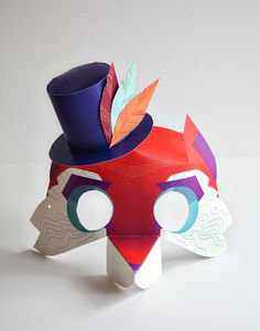 Fantastical Fox a Mask printable from new Smallful printables for kids - great Halloween costume for kids (there are unicorn, dragon, and princess masks too!)