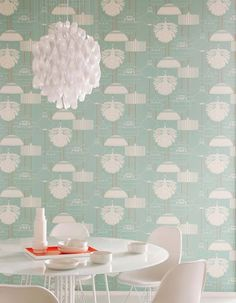 Interior crisp: Inspiration - Retro wall paper / Le papier peint retro