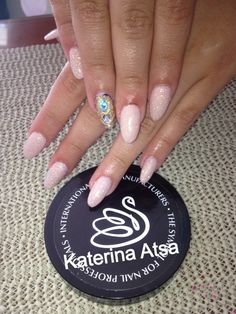 Inm Out The Door Nail System   #pink #glitter #gold #liquidstone #blue #almond @INM Nails @Nail Tech Event of the Smokies @NAILS Magazine    INM Greece Acrylic & Gel Systems