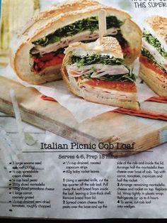 Italian Picnic Cob Loaf                                                                                                                                                      More