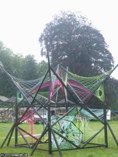 psychedelic decor. trance festival party psydeco by Kindred Spirits crew #strings #psytrance
