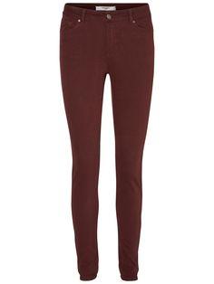 Dark red skinny fit jeans from VERO MODA.