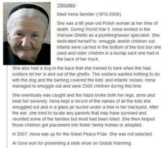 Heroes do extraordinary things. What I did was not an extraordinary thing. It was normal. -Irena Sendler