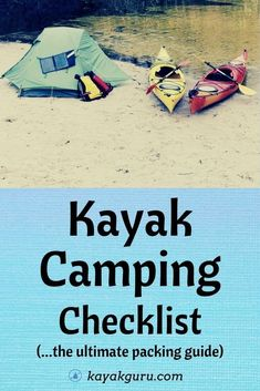 Planning a multi-day or overnight camping trip with your kayak? Check out our guide to Kayak Camping! We show you what gear to bring, what type of kayak is best, and hwo to prepare for your kayak camping trip. Kayak Camping, Camping And Hiking, Kayak Fishing, Kayak For Beginners, Kayaking Tips, Adventure Activities, Camping Checklist, Winter Sports, Outdoor Life