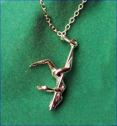 Silver pole dancer necklace pendant charm secret pleasures pole dancer pendant necklace mozeypictures Image collections