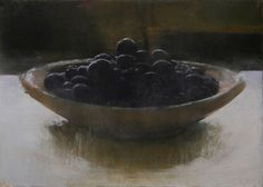 "Douglas Fryer- Blueberries, 7"" x 9""oilpainting"