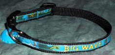 Adjustable Cat or Small Dog Collar from Recycled Kona Brewing Big Wave Golden Ale beer labels by squigglechick, $14.00