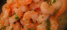 gamberi all'aglio e al peperoncino