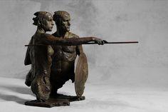'Thésée et l'Amazone' Bronze Fine Sculpture by Charbonnel