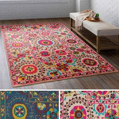 meticulously woven western nylon rug (5'3 x 7'6) | new house
