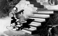 "gravesandghouls: "" Mickey Mouse in The Mad Doctor (1933) """