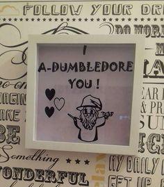 Harry Potter Inspired Frame Valentines Day Gift by EdiesJunebug