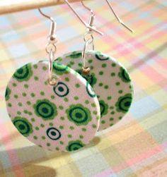 diy fabric earrings!!