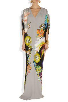 Etro|Printed crepe gown|NET-A-PORTER.COM #vegan
