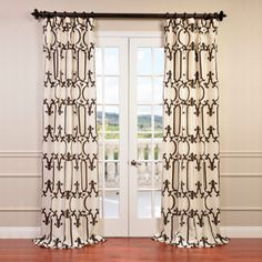 Online Best Price for Half Price Drapes Royal Gate Flocked Faux Silk Taffeta Curtain Search for products you need! Buy online Here and Save Silk Taffeta Curtain Compare Reasonable Price! Faux Silk Curtains, Drapes Curtains, Brown Curtains, Velvet Curtains, Pattern Curtains, Layered Curtains, French Curtains, Short Curtains, Elegant Curtains