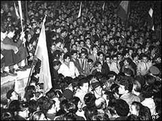 Tens of thousands of people take to the streets in Hungary to demand an end to Soviet rule. Hungary History, Budapest Hungary, Cold War, Revolution, October