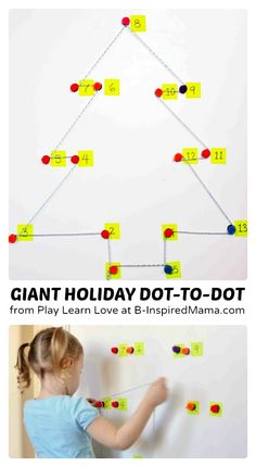 Giant Holiday Dot-to-Dot Counting Games [Contributed by Play Learn Love] - #kids #learning #preschool #Christmas #kbn