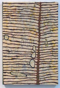 "Tracye Wear | Yellow Leaf, 2012 | encaustic and oil stick, 30""x20"" /sm"