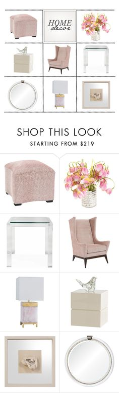 """Home Decor"" by kathykuohome ❤ liked on Polyvore featuring interior, interiors, interior design, home, home decor, interior decorating, livingroom, Pink and homedecor"
