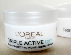 LOREAL Triple active day cream. Oily and mixed skin.