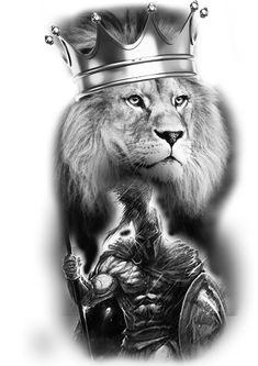 Warrior Tattoos, Wolf Tattoos, Leg Tattoos, Tattoos For Guys, Lion Tattoo Sleeves, Arm Sleeve Tattoos, Coroa Tattoo, Hercules Tattoo, Gladiator Tattoo