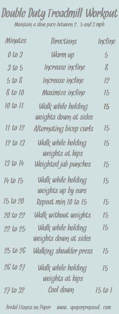Double duty treadmill workout