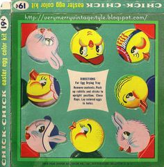 Vintage Easter Egg dye kit