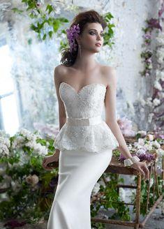 25 Pretty Perfect Peplum Wedding Dresses