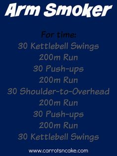 Arm Smoker Workout! From @carrotsncake One to try! #fitfluential