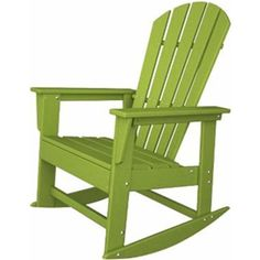 Polywood Adirondack Chair: Polywood South Beach Patio Adirondack Chair From…