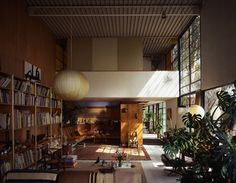 The Eames House living room (looking towards alcove), Ray and Charles Eames