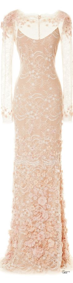Marchesa - Resort 2014, Lace Column Gown