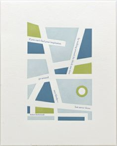 Susan Angebranndt of Burlingame, CA-based Green Chair Press has a love for language, typography and cartography -- can you guess why I'm drawn to her work? Here are three of her amazing limited-edition letterpress prints.
