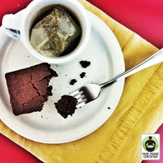 #FairTrade #tea + #brownies = love. Hit 'like' if you want to help us finish our afternoon snack! :) #chocolate