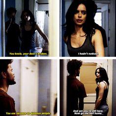 """""""Your door's broken"""" - Malcolm and #JessicaJones"""