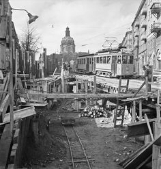 Odenplan 1947, constructing the subway: Tunnelbanan, Stockholm 60 year's old