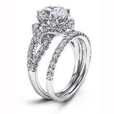 Brides Magazine: Unique Engagement Ring Settings : Engagement Rings Gallery
