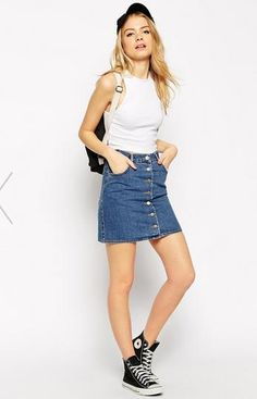 lifestyle: MUST HAVE- BUTTON UP DENIM SKIRT