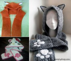 Make a Fox, Hello Kitty or any animal with this Snuggly Cat Scoodie FREE Pattern. Check out the adorable Knitted and Crochet Animal Cowels too!