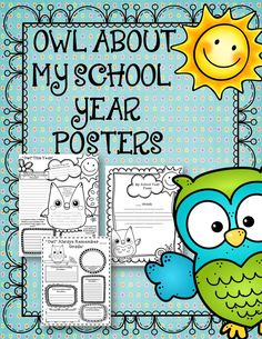 These cute owl posters will be the perfect end to your school year. Students will enjoy completing these adorable posters to reflect on and remember their past year. These posters are great for display or to create a booklet.  $