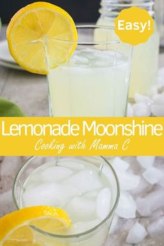 Lemonade Moonshine - Just 4 ingredients and so refreshing! Lemonade Moonshine is so refreshing & delicious! You just need four ingredients to make this easy drink! Now wonder it's our most popular new recipe. Alcoholic Punch Recipes, Easy Alcoholic Drinks, Easy Punch Recipes, Alcohol Drink Recipes, Yummy Drinks, Fireball Recipes, Healthy Cocktails, Martini Recipes, Yummy Snacks