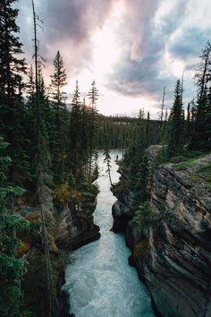 banshy:  Athabasca Falls by Meagan Lindsey Bourne - Nature Blog.