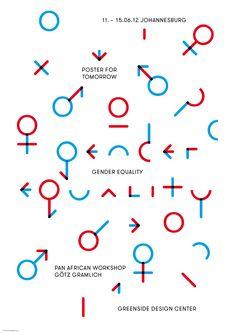 Gender Equality Poster. GGGrafik (Typography, Design)