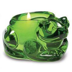 Frog Glass Tea Light Holder