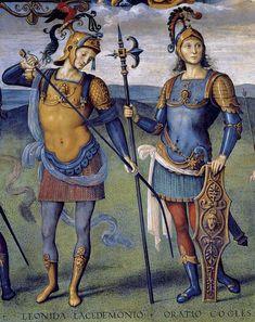 Detalle de una pintura de Pietro Perugino.