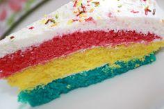 tarta estilo arco iris / Regenbogentorte