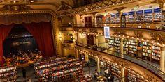 El Ateneo Grand Splendid bookstore by Francesco Manzone, Buenos Aires – Argentina Libreria El Ateneo, Recoleta Cemetery, Bookstore Design, Library Design, Sound Film, Beautiful Library, Retail Design, South America, Explore