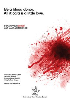 Blood Donation Camp Poster on Behance